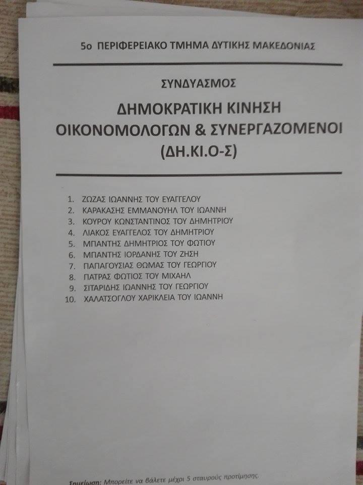 kozan.gr: Συντριπτική επικράτηση για την παράταξη ΔΗ.ΚΙ.Ο-Σ, του Μανώλη Καρακάση, στις εκλογές του Οικονομικού Επιμελητηρίου