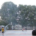 Τοποθέτηση ελαστικού τάπητα στα εξωτερικά γήπεδα μπάσκετ του Δ.Α.Κ. Κοζάνης