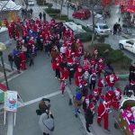 Εναέρια στιγμιότυπα από το 3ο Santa Claus Πτολεμαΐδας (Βίντεο)