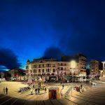 Η κεντρική πλατεία της Κοζάνης, σα ζωγραφιά