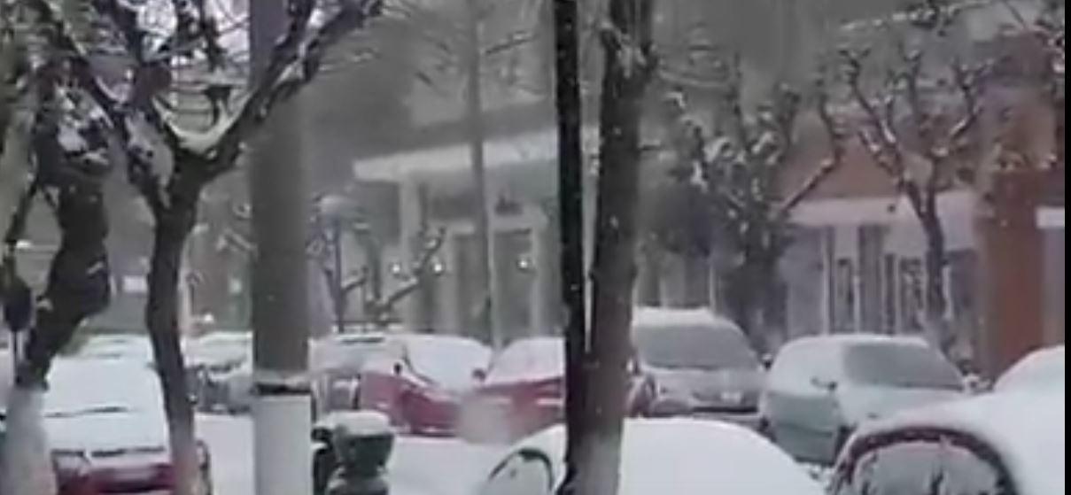 kozan.gr: Ώρα 9.00πμ. Πυκνή χιονόπτωση στην πόλη της Πτολεμαΐδας. Με προβλήματα η κίνηση των οχημάτων αλλά και των πεζών μέσα στην πόλη (Βίντεο)