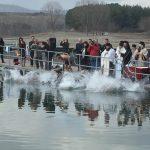 Εορτασμός  των Θεοφανείων, την Κυριακή 6 Ιανουαρίου, στη λίμνη Πολυφύτου