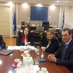Με την Υφυπουργό Οικονομικών Α.Παπανάτσιου συναντήθηκε η Ο.Τελιγιορίδου & αντιπροσωπεία της Ελληνικής Ομοσπονδία Γούνας για την επίλυση θεμάτων που σχετίζονται με τον γουνοποιητικό κλάδο