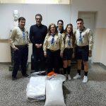 Σεντόνια & μαξιλαροθήκες από το 3ο σύστημα προσκόπων Κοζάνης στο Γενικό Νοσοκομείο (Φωτογραφία)