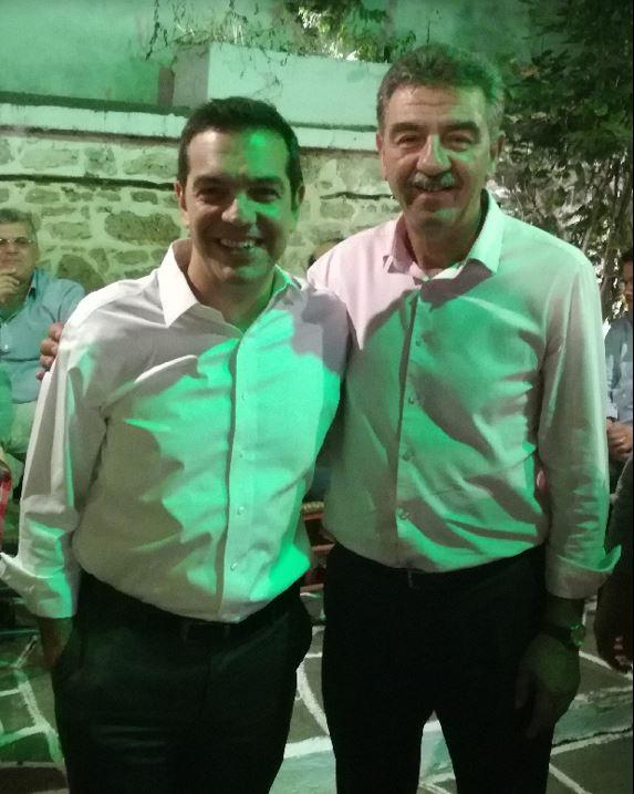 Συνάντηση του Δημάρχου Γρεβενών Γ. Δασταμάνη με τον Πρωθυπουργό,  Αλέξη Τσίπρα
