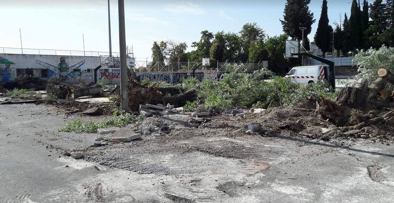kozan.gr: Ξεκίνησαν οι εργασίες ανάπλασης στο χώρο των ανοιχτών γηπέδων του Μπάσκετ στο Δημοτικό Αθλητικό Κέντρο Κοζάνης (Φωτογραφία)