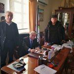Υπογραφή σύμβασης για την κατασκευή πλακοσκεπούς αγωγού περισυλλογής όμβριων στην Τ.Κ. Πελεκάνου