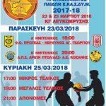 Tελική φάση πρωταθλήματος Ε.ΚΑ.Σ.ΔΥ.Μ. 2017-18 (FINAL 4)