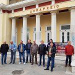 "kozan.gr: Συμβολική κατάληψη στο δημαρχείο Κοζάνης πραγματοποίησαν, το πρωί της Τετάρτης, λίγο μετά τις 7, μέλη του συνδικαλιστικού σωματείου της ΔΕΗ ""Η Ένωση"" (Φωτογραφίες)"
