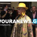 H εκκεντρική εμφάνιση  του Λάκη Γαβαλά στο Gala Show της Έκθεσης Γούνας στην Καστοριά