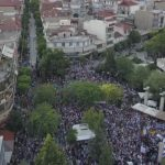 Φωτογραφίες, με λήψη από drone, από το συλλαλητήριο για τη Μακεδονία στην Πτολεμαΐδα