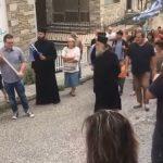 Διαμαρτυρία έξω από το πολιτικό γραφείο της Ολυμπίας Τελιγιορίδου στην Καστοριά, με αφορμή το Σκοπιανό και την συμφωνία Τσίπρα – Ζάεφ (Βίντεο)