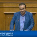 Ομιλία του βουλευτή Φλώρινας Γ. Αντωνιάδη στην ολομέλεια της Βουλής το Σάββατο 16/6, κατά τη συζήτηση της πρότασης μομφής κατά της κυβέρνησης (Βίντεο)