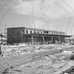 Φωτογραφία από τις εργασίες κατασκευής του Σιδηροδρομικού Σταθμού Κοζάνης το 1954
