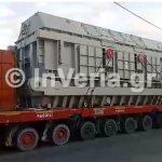Η μεταφορά γεννήτριας 500 τόνων & μετασχηματιστή, το πρωί της Κυριακής 24/6, μέσω Βέροιας και τελικό προορισμό τη νέα λιγνιτική μονάδα Πτολεμαΐδα V (Βίντεο)