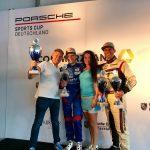Ο Γιώργος Καρακούλας, από την Κοζάνη, στο βάθρο του Porsche Super Sports Cup
