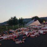 Ανατροπή νταλίκας στην Εγνατία Οδό πριν τον κόμβο της Κουλούρας (Φωτογραφία)