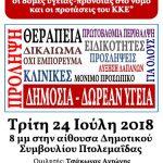 """Πτολεμαΐδα: Eκδήλωση με θέμα """"Οι εξελίξεις στο χώρο της Υγείας, οι δομές Υγείας – Πρόνοιας στο νομό και οι προτάσεις του ΚΚΕ"""", την Τρίτη 24 Ιουλίου"""