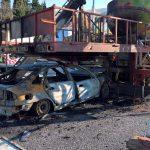 """kozan.gr: Σιάτιστα: Αυτοκίνητο, """"καρφώθηκε"""", σε καράβι-κούνια Λούνα Πάρκ (Βίντεο & Φωτογραφίες)"""