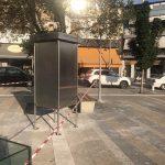 kozan.gr: Κεντρική πλατεία Κοζάνης: Τοποθετήθηκαν stands για αφίσες κι ανακοινώσεις αγγελιών κτλ. (Φωτογραφίες)