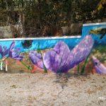 Εντυπωσιακά γκράφιτι περιμετρικά του κτηρίου του Αναγκαστικού Συνεταιρισμού Κροκοπαραγωγών στον Κρόκο Κοζάνη (Φωτογραφίες)