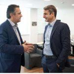 """Συνάντηση Μητσοτάκη με Γιώργο Κασαπίδη – """"Κλείδωσε η υποψηφιότητά του"""" – Τι αναφέρει η επίσημη ανακοίνωση του κόμματος (Φωτογραφία)"""