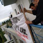 kozan.gr: Παράσταση διαμαρτυρίας, στην Περιφέρεια Δ. Μακεδονίας,  στην ΖΕΠ, από μέλη του Συλλόγου Ανέργων και Περιβάλλοντος Αγίου Δημητρίου-Ρυακίου Κοζάνης – Αφού συναντήθηκαν με τον Περιφερειάρχη στη συνέχεια κρέμασαν πανό (Φωτογραφίες)