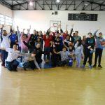 Φωτογραφικό υλικό από την επίσκεψη της Εθνικής ομάδας γυναικών μπάσκετ στο κλειστό γυμναστήριο Άνω Κώμης,παρέα με τους μαθητές του ειδικού σχολείου Άνω Κώμης