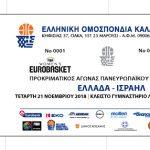 Κοζάνη: Προπώληση Εισιτηρίων για την Εθνική Γυναικών στο πλαίσιο των προκριματικών του Ευρωμπάσκετ 2019