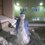 kozan.gr: Mαμάτσειο νοσοκομείο Κοζάνης: Χιονάνθρωπος ιατρός