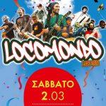 H αφίσα για τη συναυλία των Locomondo στην Κοζάνη, το Σάββατο 2/3