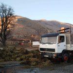 Σιάτιστα: Φωτιά σε φορτηγό με τριφύλλι (Φωτογραφίες)