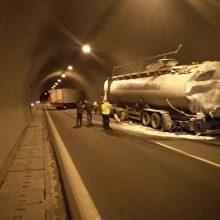 kozan.gr: Τροχαίο ατύχημα με σύγκρουση νταλίκας και φορτηγού βυτίου σε τούνελ της Εγνατίας Οδού στο ρεύμα από Βέροια προς Κοζάνη (Φωτογραφία)