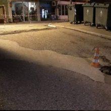 Νεάπολη Boίου: Έκλεισαν το δρόμο αντί για την τρύπα!! Φωτογραφίες)