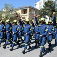 kozan.gr: Κοζάνη: Η παρέλαση του Παραρτήματος της Σχολής Πυροσβεστών στην Πτολεμαίδα  (Φωτογραφίες)