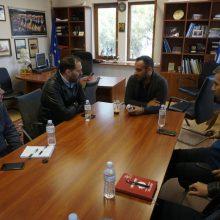 Ενημερωτική συνάντηση Π. Αλειφέρη με τον πρόεδρο της Δ. Κοινότητας Αιανής