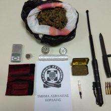 Συνελήφθη 23χρονος στην Πτολεμαΐδα για κατοχή-διακίνηση ναρκωτικών ουσιών και παράβαση της νομοθεσίας περί όπλων (Φωτογραφία)