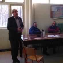 Επίσκεψη του υποψήφιου Δημάρχου κ. Γιάννη Καραβασίλη στα συνεργεία του Δήμου Εορδαίας