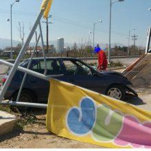 Kozan.gr: Τροχαίο ατύχημα, με ανατροπή αυτοκινήτου, στη νότια είσοδο της Πτολεμαΐδας (Φωτογραφίες & Βίντεο)
