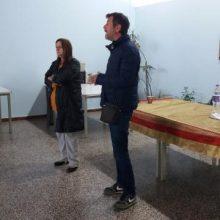 Συγκέντρωση ενημέρωση από τους υποψήφιους της Λαϊκής Συσπείρωσης, Ν. Στολτίδη και Α. Χόλμπα, πραγματοποιήθηκε σήμερα 1/4, στη ΔΕΗ