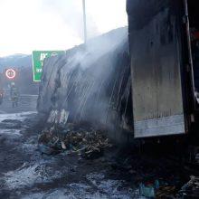 Γρεβενά: Φωτιά σε φορτηγό στην Εγνατία (Φωτογραφίες)
