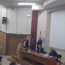 Συνάντηση του προέδρου του Επιμελητηρίου Κοζάνης, Νίκου Σαρρή με  τον πρόεδρο του Οικονομικού Επιμελητηρίου Ελλάδας, Κωνσταντίνο Κόλλια