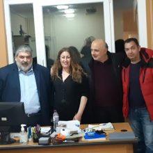 Συναντήσεις με το Δ.Σ. του Συλλόγου Φίλων Εικαστικών Τεχνών Εορδαίας «Άρης Γαρουφαλλίδης», με εργαζόμενους σε Βαρβούτειο Δημοτικό Ωδείο και με το Σύλλογο Γονέων, Κηδεμόνων και Φίλων ΑμεΑ ΠΔΜ, πραγματοποίησαν ο Παναγιώτης Πλακεντάς και ομάδα υποψηφίων δημοτικών συμβούλων της «Ενωμένης Εορδαίας»