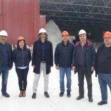 Επίσκεψη στην εταιρεία SIBELCO HELLAS στα Λεύκαρα για το συνδυασμό «Γέφυρα» του  Χρήστου Ελευθερίου