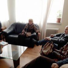 Επίσκεψη της Αθηνάς Τερζοπούλου στο Μποδοσάκειο Νοσοκομείο