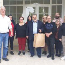 Επίσκεψη του Παναγιώτη Πλακεντά στο Ειδικό Εργαστήρι Πτολεμαΐδας.