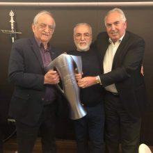 Mε τον Ιβάν Σαββίδη συναντήθηκε χθες την Τετάρτη 24 Απριλίου ο Πρόεδρος της Ευξείνου Λέσχης Κοζάνης Κώστας Σανίδης