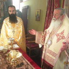 Αρχιερατική Θεία Λειτουργία τελέστηκε την Τετάρτη της Διακαινησίμου  στο Μητροπολιτικό Εξωκλήσι του Αγίου Βαραδάτου του Κουβουκλιώτη.  (του παπαδάσκαλου Κωνσταντίνου Ι. Κώστα)