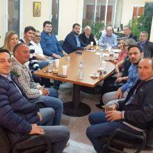 Συνάντηση του Προέδρου του Οικονομικού Επιμελητηρίου Δυτικής Μακεδονίας, Μανώλη Καρακάση και μελών της Διοίκησης με τον επικεφαλής της ΕΝΟΤΗΤΑΣ Λάζαρο Μαλούτα και υποψήφιους του συνδυασμού
