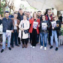 Επίσκεψη  στις λαϊκές αγορές της Σκ' ρκας και στα Ηπειρώτικα πραγματοποίησε την Τρίτη 7 Μαΐου ο συνδυασμός «Κοζάνη ΜΠΡΟΣΤΑ» του Ευάγγελου Σημανδράκου